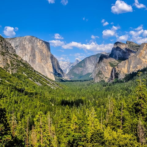 Yosemite Valley, Tunnel View, Yosemite National Park, Californie